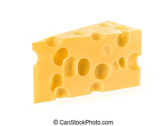 Cheese isolated on white background. With clipping path.