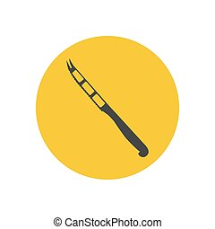 Cheese knife silhouette
