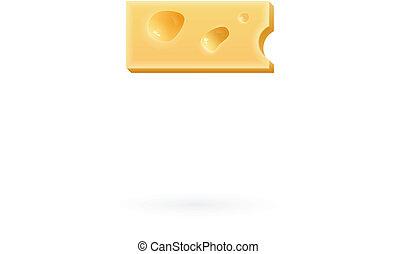 Cheese minus mark. Symbol isolated on white.