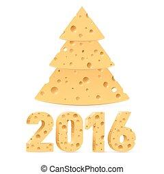 Cheese New Year symbols