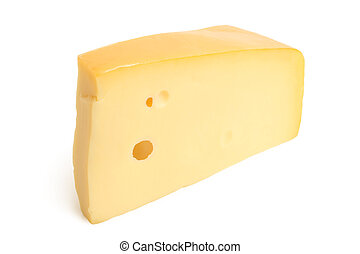 Cheese on white background