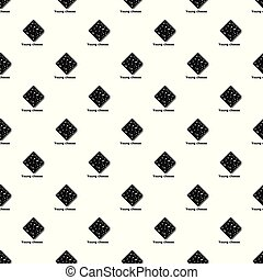 Cheese pattern vector seamless