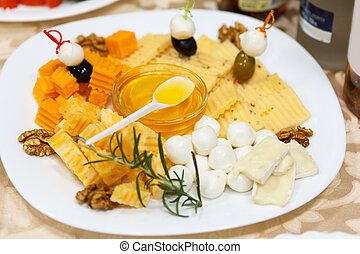 Buffet Wedding Decorations Cheese And Nuts Smorgasbord