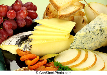 Cheese Platter - Delicious cheese platter with various ...