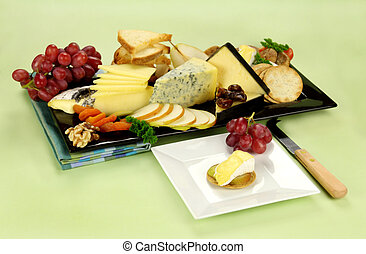 Cheese Platter - Delicious cheese platter with various...