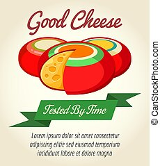Cheese product retro poster