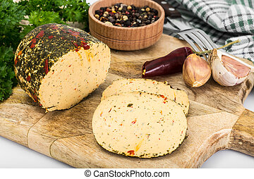 Cheese Sausage, Smoked with Herbs