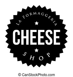 Cheese Shop vintage stamp