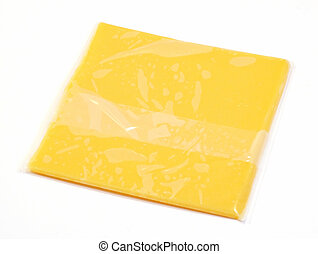 slice of wrapped American cheese