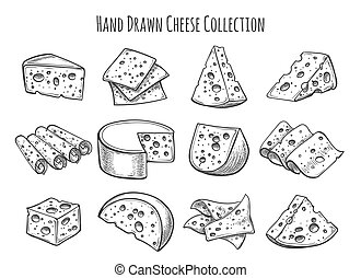 Cheese sketch set