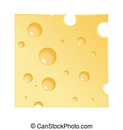 Cheese slice - A vector illustration of a cheese slice ...