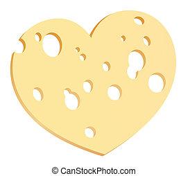 Cheese Slice Heart