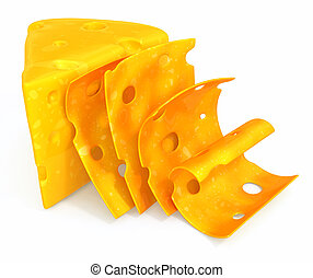 Cheese sliced