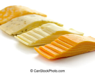 cheese slices , close up