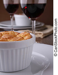 cheese souffle - delicious cheese and potato souffle