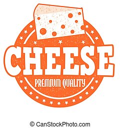 Cheese stamp - Cheese grunge rubber stamp on white...