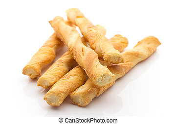Cheese sticks. - Cheese sticks isolated on the white...