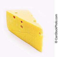 cheese;, weißes, freigestellt