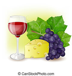 cheese with a glass of wine