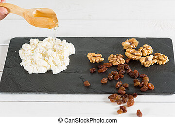 Cheese with nuts