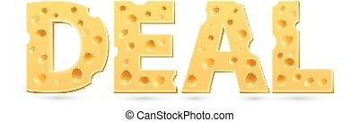 cheese., woord, delen