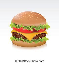 Delicious juicy cheeseburger