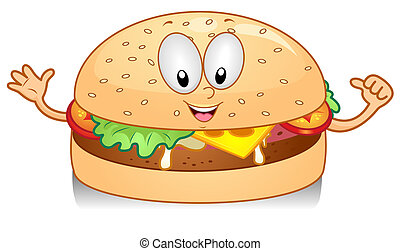 Cheeseburger Gesture - Illustration of a Cheeseburger...