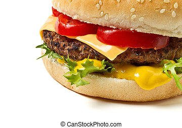 Cheeseburger n Mustard - Cheeseburger and Mustard in sesame...