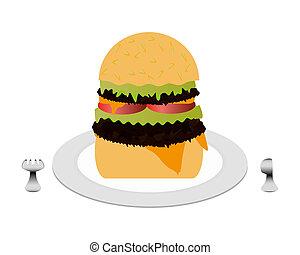 cheeseburger, piastra