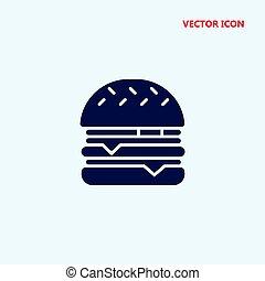 cheeseburger vector icon