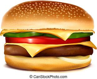 Cheeseburger. Vector illustration.