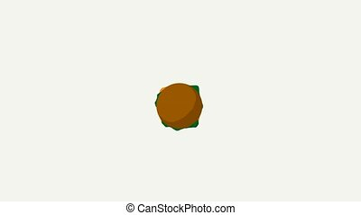 Cheeseburger Video - Cheeseburger floating and spinning on a...