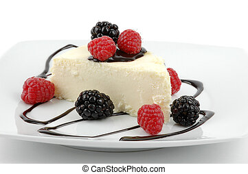 Cheesecake - Creamy traditional cheesecake with berries and...