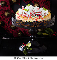 Cheesecake decorated for Christmas - Cheesecake New York...