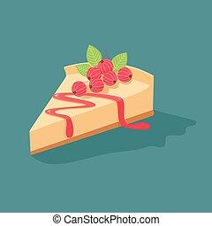 cheesecake, groseilles