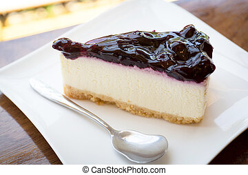 Cheesecake on a plate