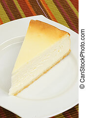 Cheesecake - Slice of cheesecake on a kitchen plate