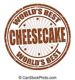 Cheesecake stamp - Grunge rubber stamp with the word...