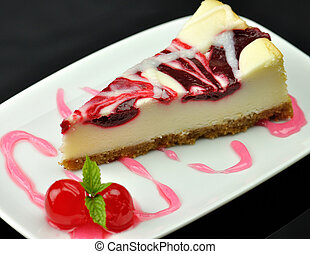 cheesecake with cherry