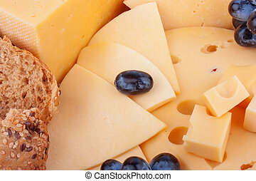 Cheeses background