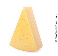 cheeses isolated on white background