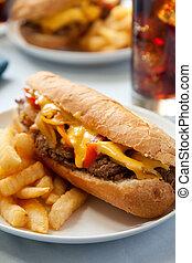 cheesesteak, panino