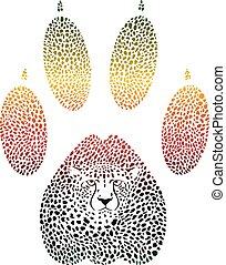 Cheetah color footprint