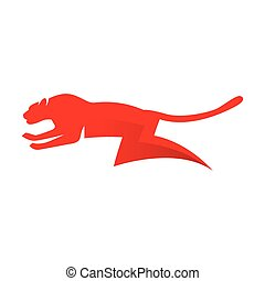 cheetah electric energy logo vector