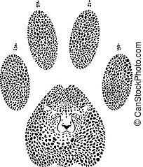 Cheetah footprint