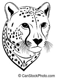 Cheetah in the form of a tattoo