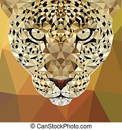 Cheetah low poly design. Triangle vector illustration