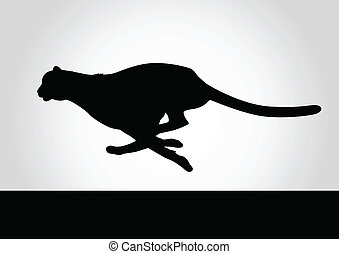 Cheetah - Silhouette illustration of a cheetah
