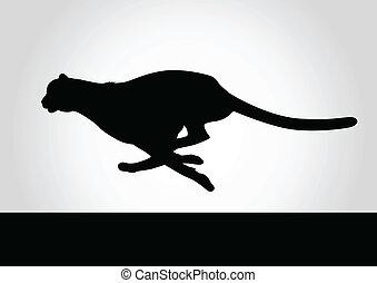 Cheetah - Silhouette illustration of a cheetah
