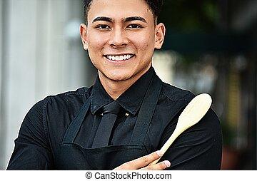 chef, adulto masculino, feliz